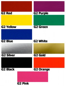 Caliper Paint standard colors